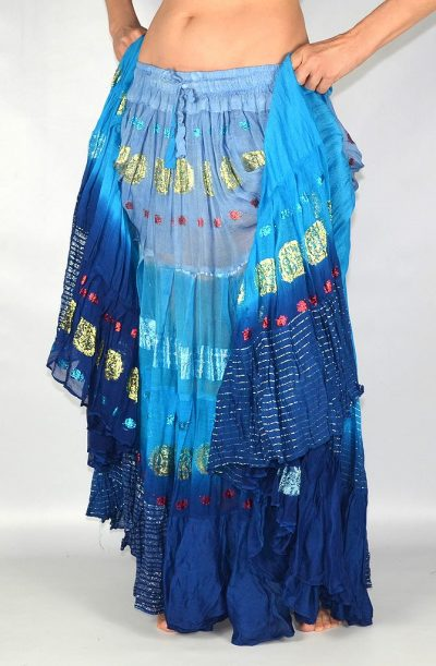 Bollywood-22yd-skirt-blue