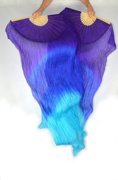 Fan Veils Purple Blue Turquoise