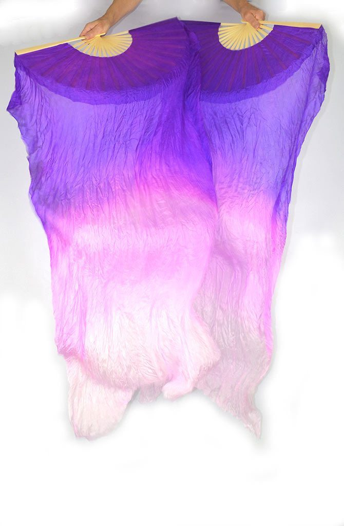 Fan Veils Purple Pink Light Pink