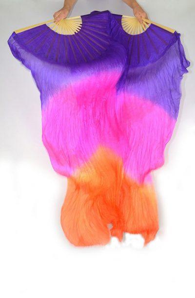 Fan Veils Purple Pink Orange