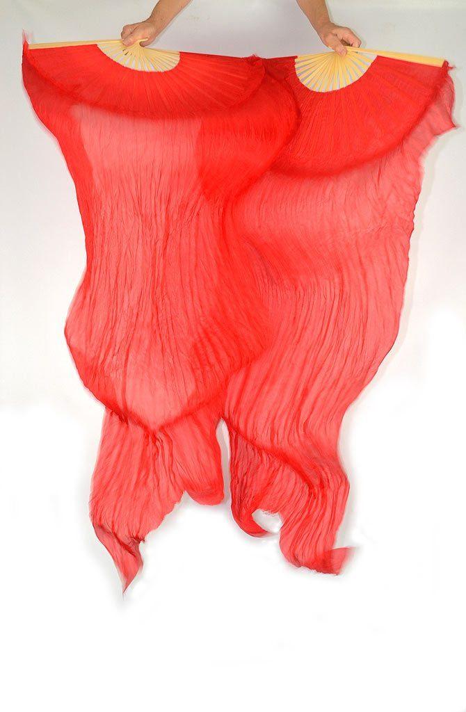 Fan Veils Red