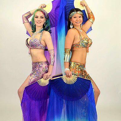 Belly Dance Silk Fan Veils