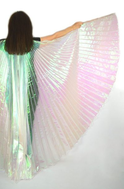 Bellydance Isis Wings Iridescent White