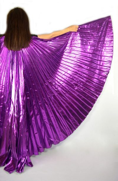 Bellydance Isis Wings Lame Purple