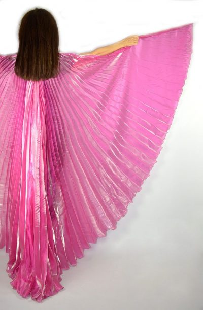 Bellydance Isis Wings Organza Raspberry