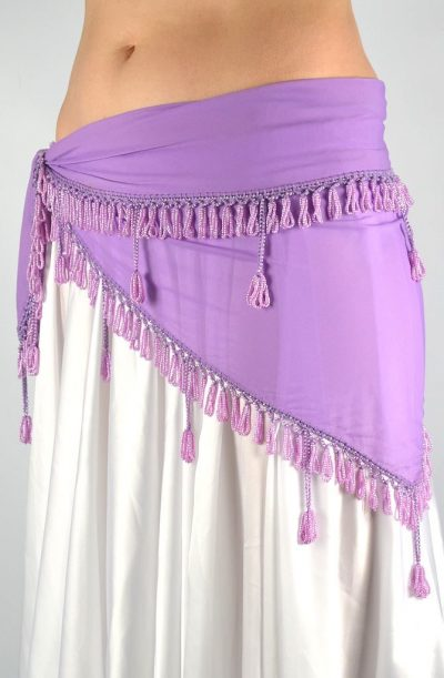 Belly Dance Hip Belt - Lilac Block