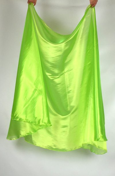 Semi Circular Veil Apple Green