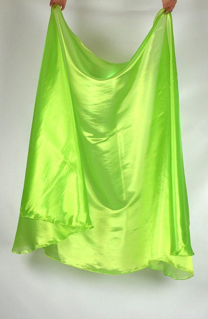 Semi Circular Veil Apple Green