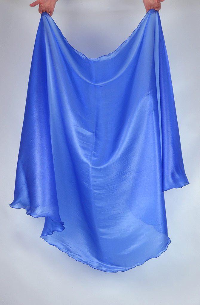 Semi Circular Veil Blue
