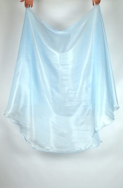 Semi Circular Veil Ice Blue