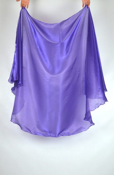 Semi Circular Veil Purple