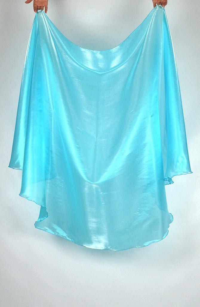 Semi Circular Veil Turquoise