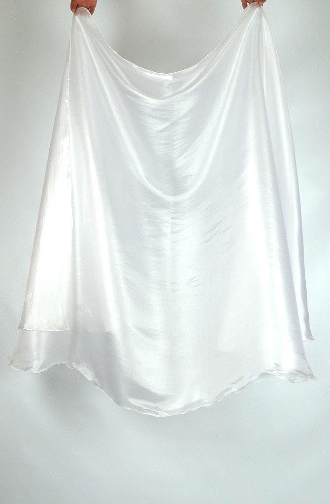 Semi Circular Veil White