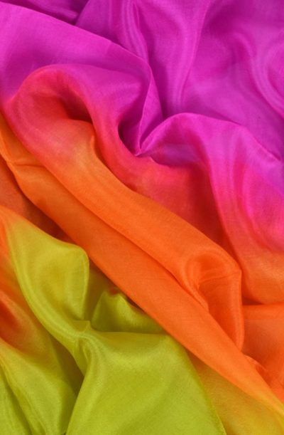 Silk Veil 3 Tone - Pink Orange and Gold