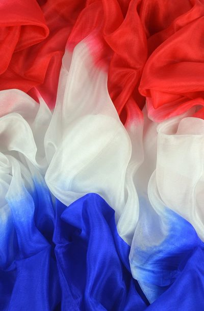 Silk Veil 3 Tone - Red, White and Blue