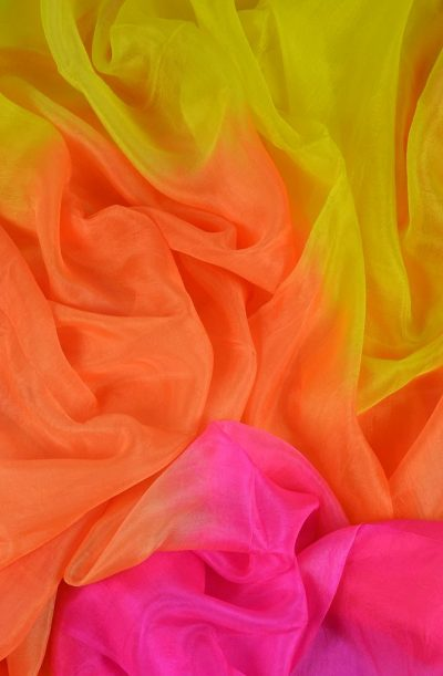 Silk Veil 3 Tone - Yellow, Orange and Cerise