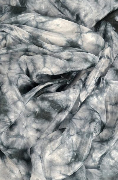 Silk Veil Tie Dye - Black and White
