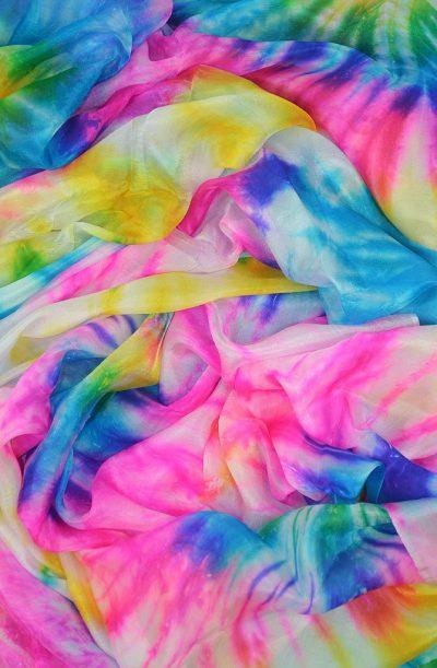 Silk Veil Tie Dye Multi