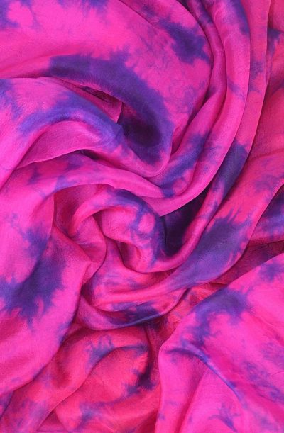 Silk Veil Tie Dye - Pink and Purple