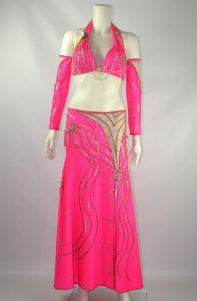 Belly Dance Costume - Powerful Pink