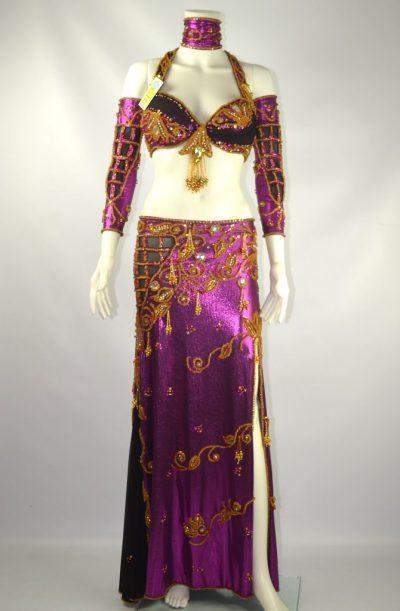 Belly Dance Costume - Purple Haze Delight