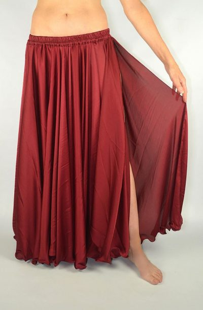 Silk Satin Skirt - Burgundy