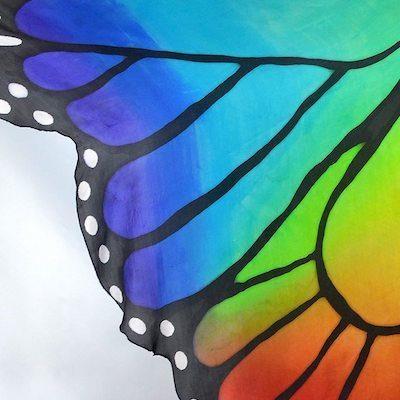 Belly Dance Silk Butterfly Wings