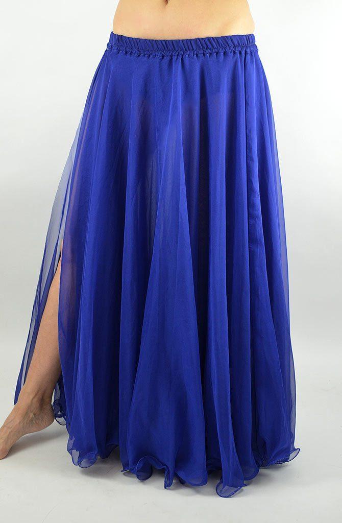 Double Chiffon Skirt - Dark Blue