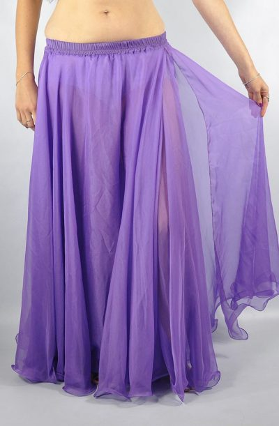 Double Chiffon Skirt - Lilac