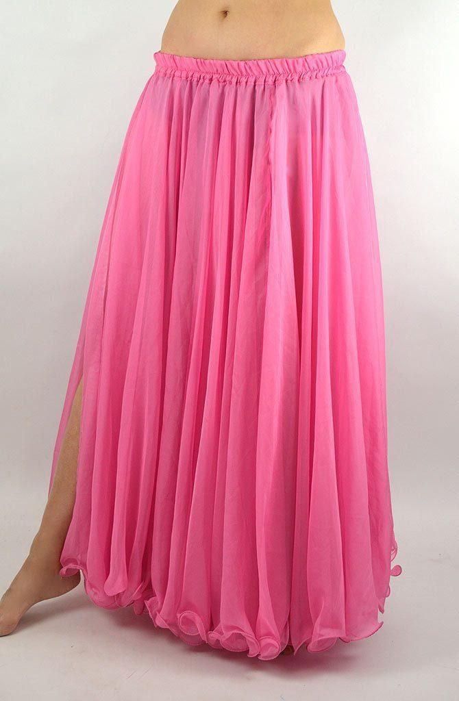 Double Chiffon Skirt - Pink