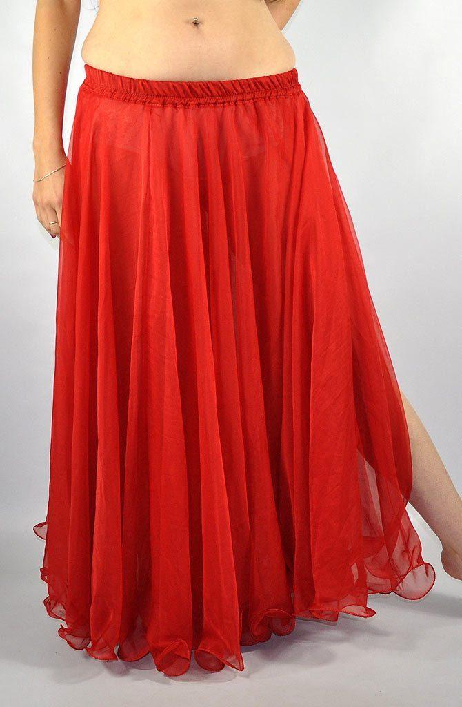 Double Chiffon Skirt - Red