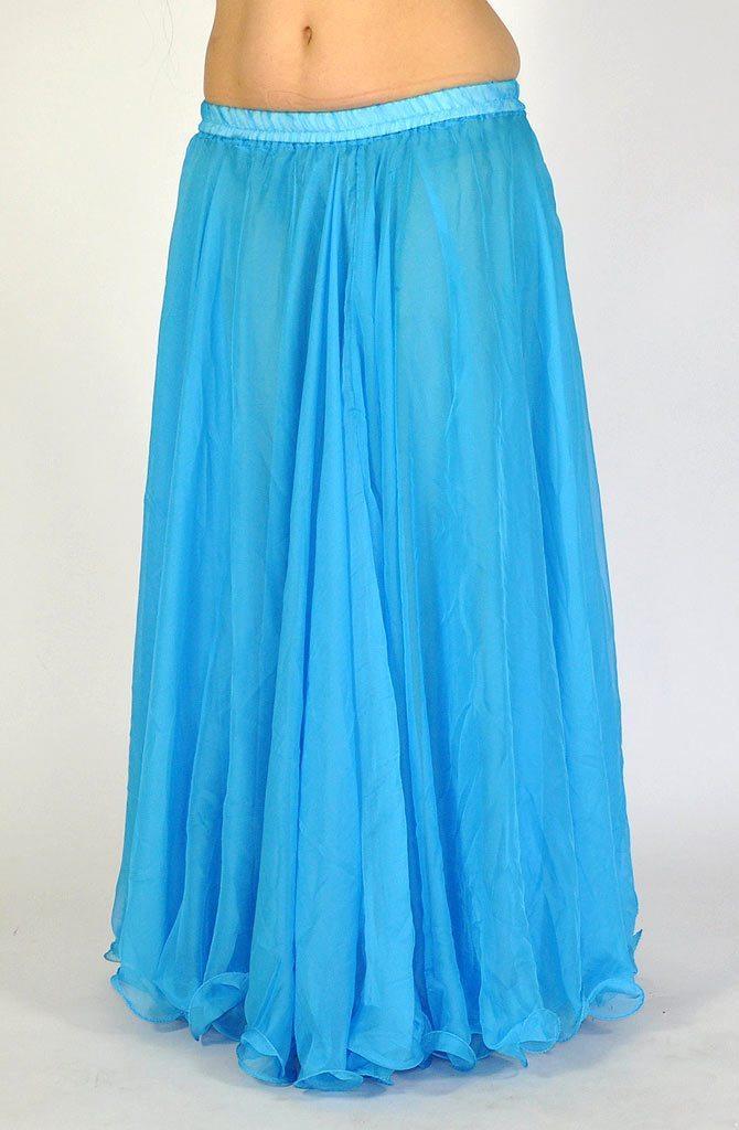 chiffon skirt sky blue bellydance boutique uk
