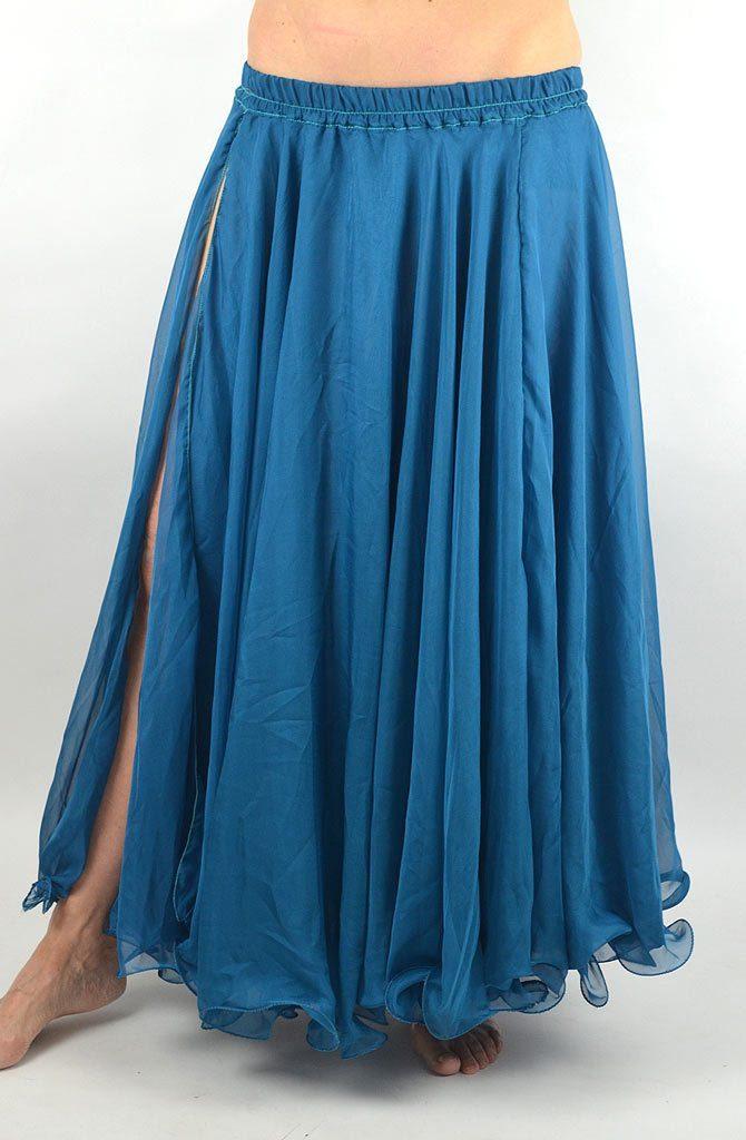 Double Chiffon Skirt - Teal