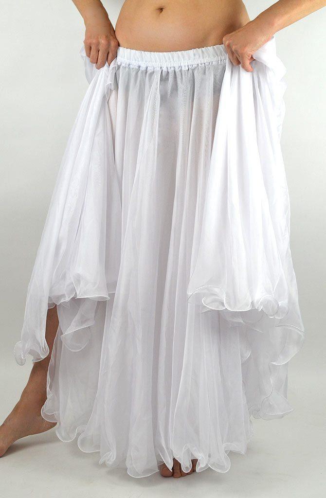 Double Chiffon Skirt - White