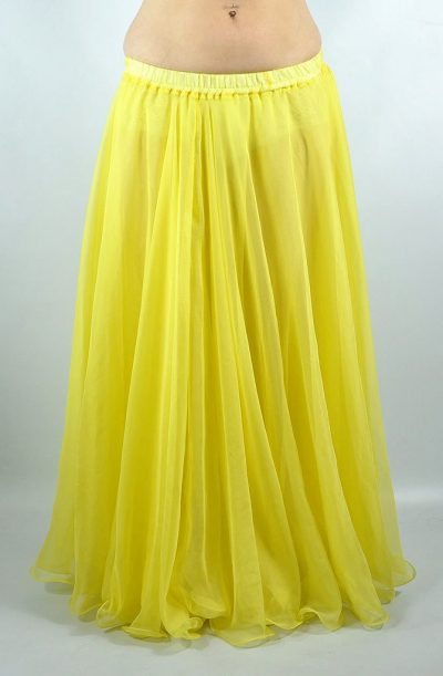 Double Chiffon Skirt - Yellow