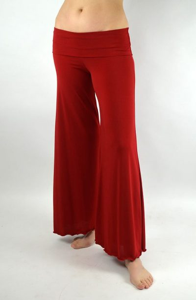 Dance Pants - Fold Over Waist Red