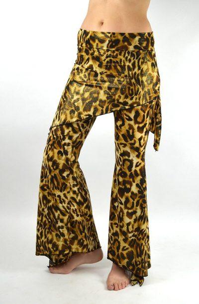 Dance Pants - Shiny Leopard Print