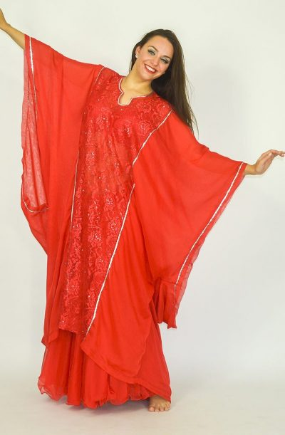 Short Khaleegi Thobe - Red