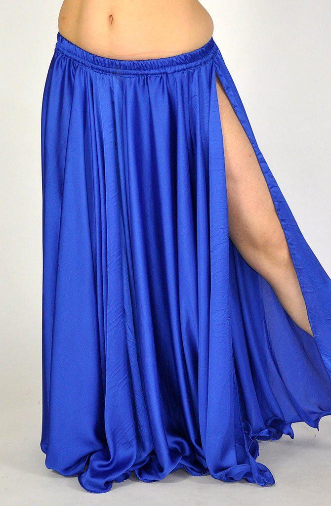 Silk Satin Skirt - Royal Blue