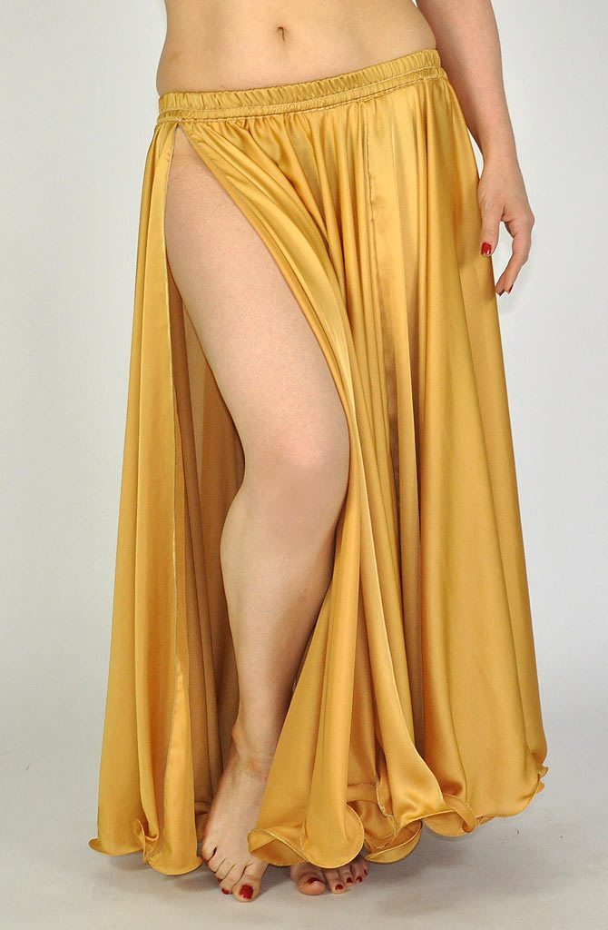 Silk Satin Skirt - Gold