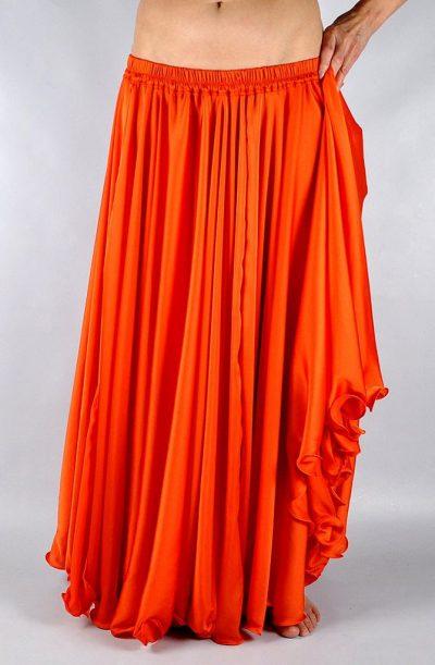 Silk Satin Skirt - Orange