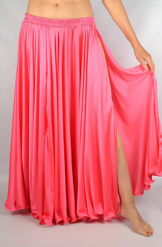 Silk Satin Skirt - Pink