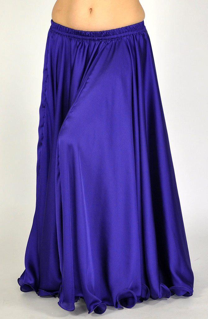 Silk Satin Skirt - Purple