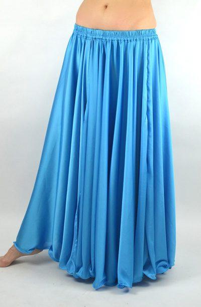 Silk Satin Skirt - Sky Blue