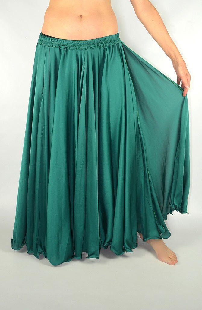 Silk Satin Skirt - Black