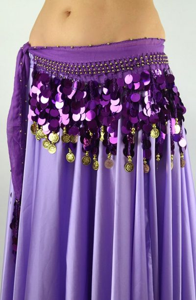 Belly Dance Starter Belt - Purple