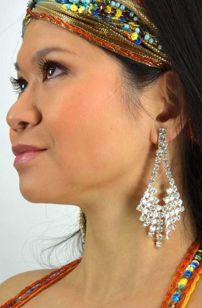 Diamanté Clip On Earrings