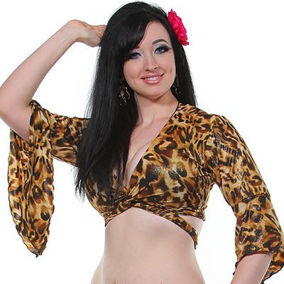 Sharifwear Gypsy Top - Shiny Leopard  sc 1 st  Bellydance Boutique & Sharifwear Gypsy Top - Shiny Leopard | Belly Dance Costumes ...