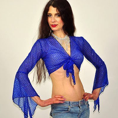 Sparkly Gypsy Top - Blue