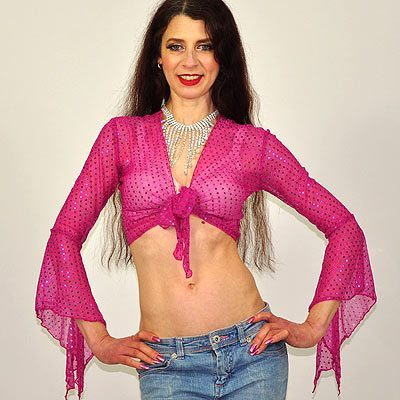 Sparkly Gypsy Top - Pink
